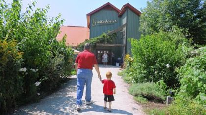 Greendance Visitors to Greendance, the winery at Sand Hill Berries, can enjoy wine and food in the gardens surrounding the winery.