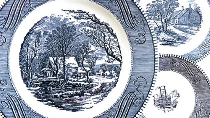 Heirloom holiday plates These plates that belonged to her mother take Gretchen McKay over the river and through the woods.