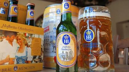 Hofbrau Oktoberfest Hofbrau Oktoberfest six-pack ($13.90), keg($30) and liter of draft Oktoberfest bier ($9).