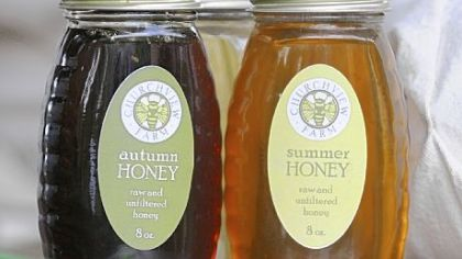 Honey Churchview Farm offers three types of honey spring, summer and autumn.