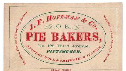 """J. F. Hoffman & Co. Image J. F. Hoffman & Co. Image from """"Culinary Ephemera,"""""""