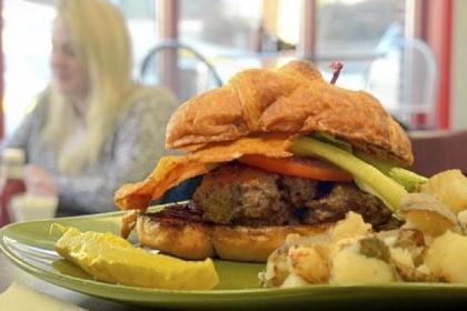 """""""John the Barber"""" """"John the Barber"""" burger at Chev & Rachel's Family Diner."""