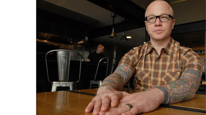 Kevin Sousa Kevin Sousa, owner and chef at the Salt of Earth, is helping plan a special meal with Chicago-based chef Brandon Baltzley.