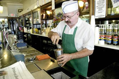 Klavon's Raymond Klavon, in a 2008 photo, reopened his grandparents' drugstore as Klavon's Ice Cream Parlor in 1999.