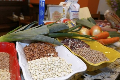 Le Virtu Some of the ingredients for the labor-intensive, but delicious, May soup known as Le Virtu that chef Stephen Felder of Stagioni on the South Side is preparing this season.