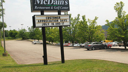 McDain's Restaurant McDain's Restaurant in Monroeville has announced that it is barring children under 6 years old from dining there.