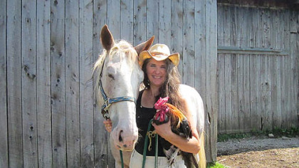 Melanie Krneta Melanie Krneta, co-owner of Little Bit of Heaven Farm near Springboro, Crawford County. The farm is hosting a Homesteading Festival Saturday and Sunday.