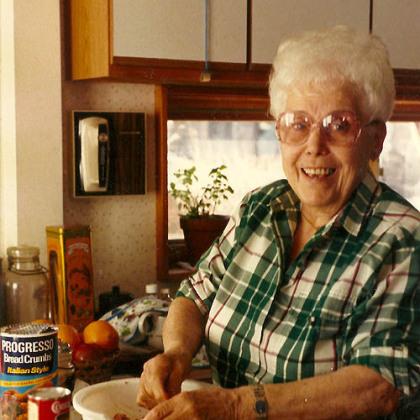 Nana Rosemarie Perla's late Nana, Philomena Miele Vicker.
