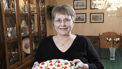 Nancy Conley and her Scottish Empire Biscuits Holiday cookie contest winner Nancy Conley at home in West Mifflin with her Scottish Empire Biscuits.