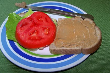 Peanut butter/miracle whip sandwich When she was growing up, Rebecca Sodergren's father used to make sandwiches of crunchy peanut butter, Miracle Whip, lettuce and tomato on white bread. She recently made a revised one with creamy peanut butter (a nod to her kids), mayo and wheat bread -- and even managed to eat it.