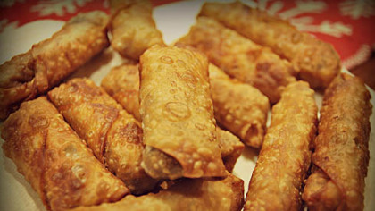 Pork and Shrimp Egg Rolls Pork and Shrimp Egg Rolls.