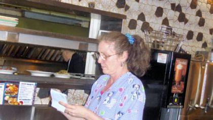Ritter's 6 2:07 a.m. at Ritter's: Barbara Helbling, waitress.