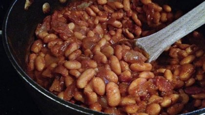 Root Beer Baked Beans Root beer baked beans: Sweet, salty, robust -- and quick!