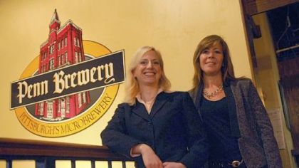 Sandy Cindrich and Linda Nyman Penn Brewery President & CEO Sandy Cindrich and Marketing director Linda Nyman.