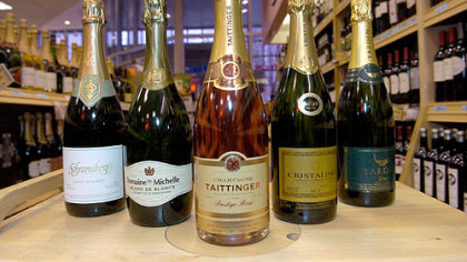 Sparkling wines Sparkling wines and champages available at Pennsylvania state stores include, from left, Schramsberg, Domaine Ste. Michelle, Taittinger, Cristalino and Yarden.