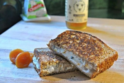 Spicy, Crunchy, Sweet Goat Cheese Melt Spicy, Crunchy, Sweet Goat Cheese Melt.