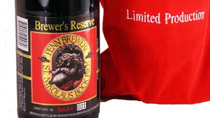 St. Nikolaus Bock Brewer's Reserve Penn Brewery's St. Nikolaus Bock Brewer's Reserve is 8 percent alcohol.