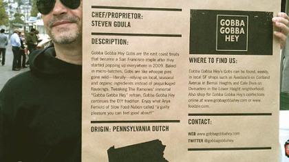 "Steven Gdula Steven Gdula, author of ""Gobba Gobba Hey: A Gob Cookbook."""
