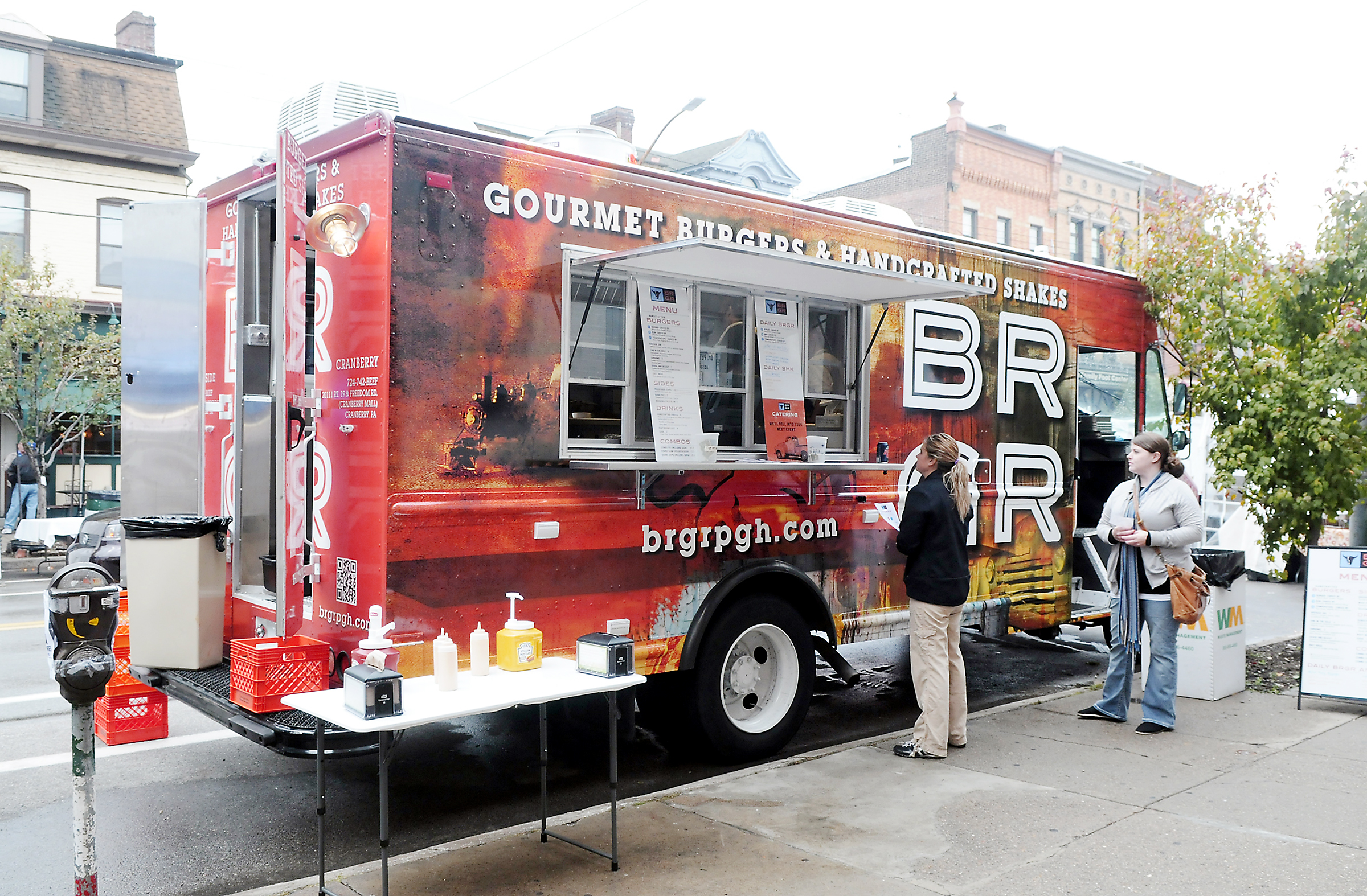 The BRGR food truck The BRGR food truck served its first customers along Liberty Avenue during Bloomfield's Little Italy Days.