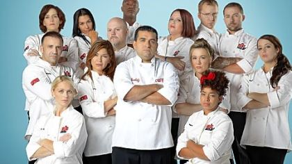 "TLC's ""Next Great Baker"" Buddy Valastro, center, is host and judge of TLC's ""Next Great Baker,"" whose contestants include Lincoln Park resident Megan Hart, in the back row to the right of Mr. Valastro."