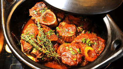 Veal shanks Veal Shanks and Marrow Bones La Chamba cook up tender and delicious in a clay cooking pot.