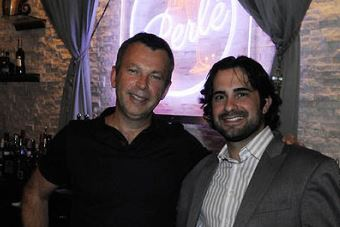 Yves Carreau and Peter Landis Yves Carreau, left, who created the restaurants Sonoma, Seviche and NOLA, stands with his business partner Peter Landis at Perle in Market Square.