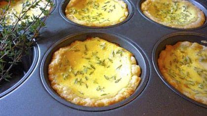 Farmer Cheese Pies Farmer Cheese Pies made in a muffin pan.
