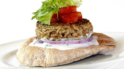 Mediterranean Lamb Burger Lamb burgers are especially delicious when ...