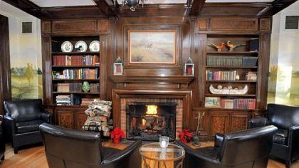 The lounge room at the Cross Keys Inn restaurant The lounge room at the  Cross Keys