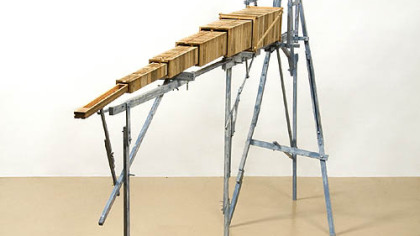 """Woodworking exhibition Katie Hudnall's """"Symbiosis #1: Table with ..."""