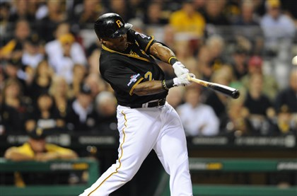 012.jpg The Pirates' Marlon Byrd hits a solo home run.