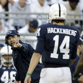 Former coach Bill O'Brien added the names to Penn State jerseys to recognize players who chose to stay on the team after the Jerry Sandusky child sex abuse scandal.
