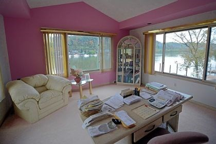 An upstairs bedroom used as an office An upstairs bedroom used as an office provides a nice view of the Allegheny River.