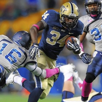 bennett2 Pitt running back Isaac Bennett carried for 240 yards and three touchdowns in Pitt's 35-24 home victory Saturday against Old Dominion.