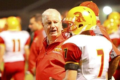 Bob Ravenstahl Cardinal Wuerl North Catholic coach Bob Ravenstahl talks with quarterback Adam Sharlow during a game against Avonworth.