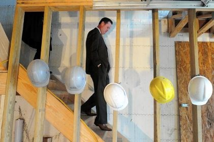Mayor Luke Ravenstahl Mayor Luke Ravenstahl tours the second phase of Windom Hill Place Wednesday on the South Side.