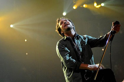 pearl jam 1 Pearl Jam, led by Eddie Vedder, kicked off its world tour at Consol Energy Center Friday night.