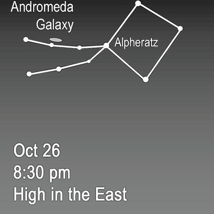 Stargazing for Oct. 21 Andromeda and Pegasus in the night sky Oct. 26.