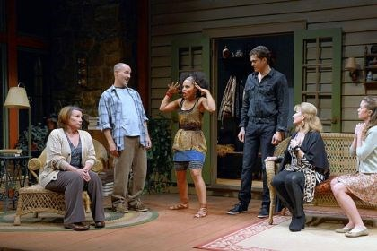 "'Vanya and Sonia and Masha and Spike' Sheila McKenna, Harry Bouvy, Amirah Vann, Karl Glusman, Helena Ruoti and Hayley Nielsen turn Chekhov on his head in ""Vanya and Sonia and Masha and Spike"" at City Theatre on the South Side."