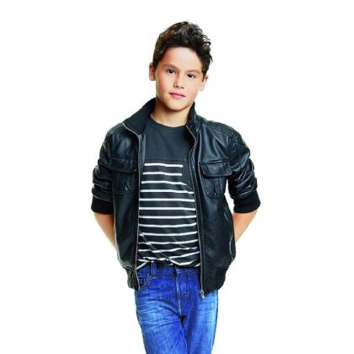 Boys jacket Jacket, $39; striped tee, $8; and jeans, $22.
