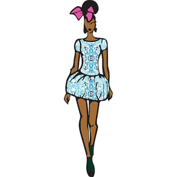 Fit and flare dress The Carolina kaleidoscope fit and flare dress by Pittsburgh-based designer Jazmin Jackson.