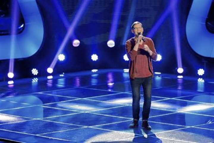 "James Wolpert on ""The Voice"" Former CMU student James Wolpert will be singing on NBC's ""The Voice"" next week."