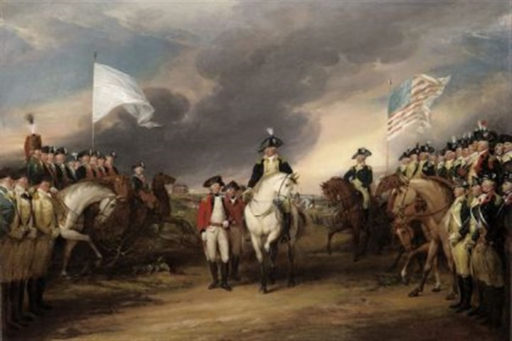 "John Trumbull's ""The Surrender John Trumbull's ""The Surrender of Lord Cornwallis at Yorktown, October 19, 1781."""