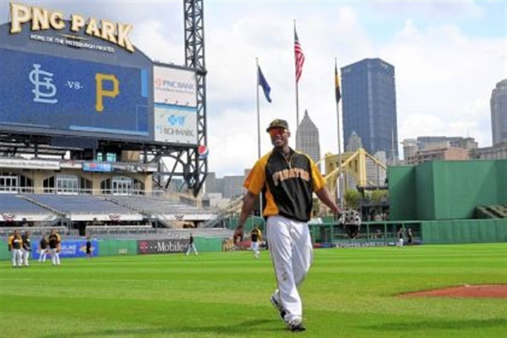 marte workout at pnc The removal of Starling Marte, pictured here, for Jose Tabata is unlikely; the removal of Walker for Jordy Mercer highly unlikely.