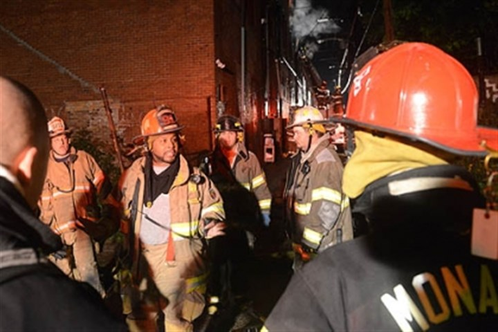 massive fire Fire companies respond to a massive fire at 546 Franklin Ave. in Aliquippa.