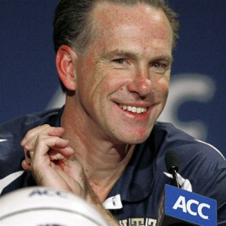Pitt basketball Pitt men's basketball coach Jamie Dixon takes part in his first Atlantic Coast Conference media day Wednesday in Charlotte, N.C.