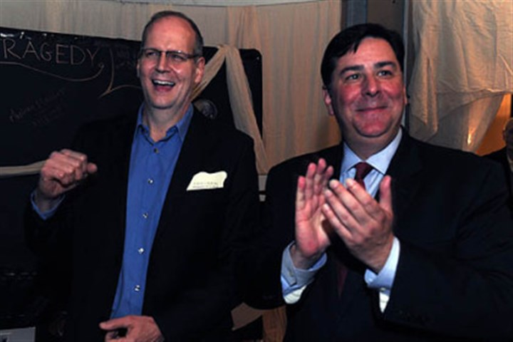 Rob Rogers and Bill Peduto Rob Rogers and Bill Peduto.