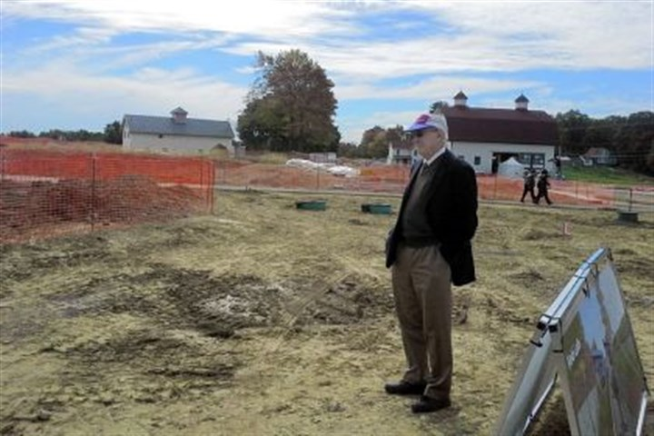 Sigo Falk Sigo Falk, chairman of the Falk Foundation, tours Chatham University's Eden Hall campus in Richland on Thursday. The foundation is giving Chatham $15 million, the largest gift in school history.