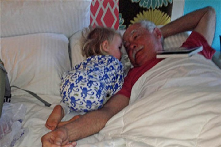 Tillie the Adorable Reg Henry's granddaughter Matilda Grace Gilpin, aka Tillie the Adorable, making sure Reg is awake.