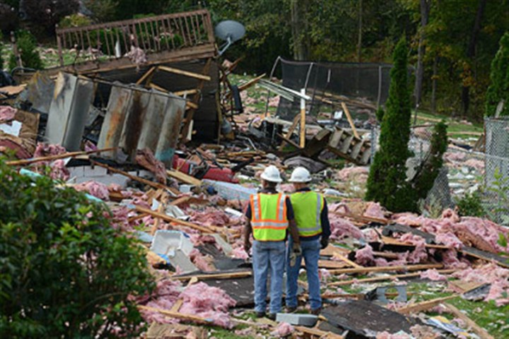 wva explode 3 An explosion caused extensive damage to some homes in Follansbee, W.Va., south of Weirton.